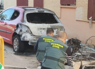 incendio coches Massamagrell y Museros