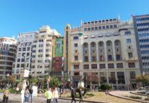 Fachada del Ateneo Mercantil, en la plaza del Ayuntamiento