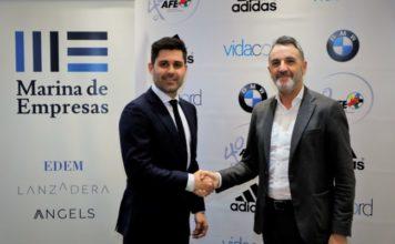 Javier Jiménez, Director General de Lanzadera, y David Aganzo, presidente de AFE