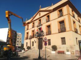 Obras en la cubierta del Ayuntamiento