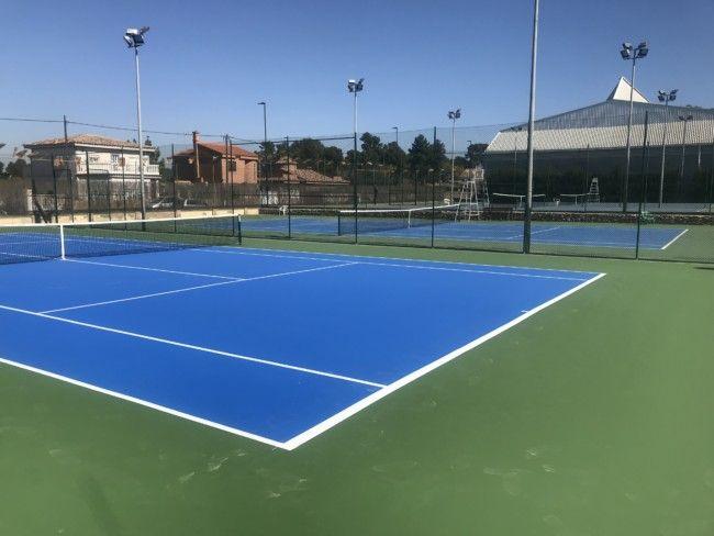 Finalizan las obras de mejora de la cuarta pista de tenis de Anabel Medina