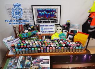 grafiteros Policia Nacional