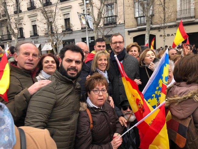 manifestacion Madrid PP Alboraya