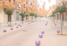 8-M Alaquàs mobiliario urbano violeta (3)