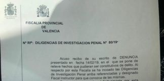Massamagrell PP Apertura diligencias Fiscalia Anticorrupcion