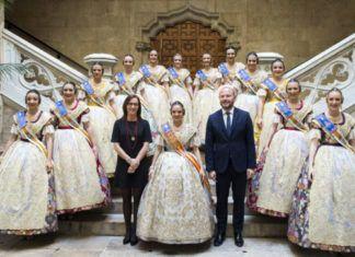 Recepción falleros de la provincia en Diputación