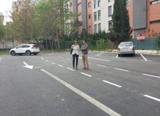 Sagredo y Campos visitando parking habiliatdo en Valterna