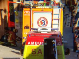 Godella incendio SAMU