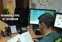 Guardia Civil estafa móviles