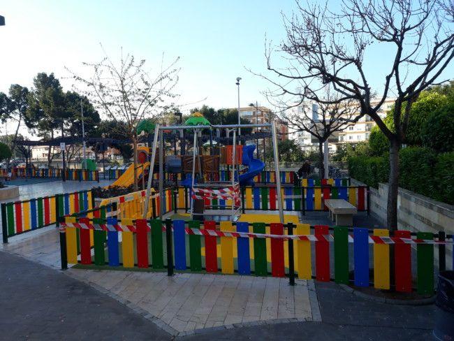 Parque inclusivo precintado Paiporta