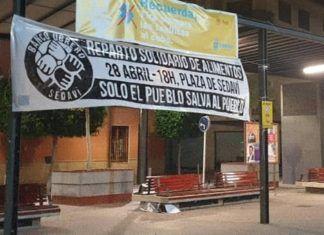 Sedaví Banco obrero pancartas