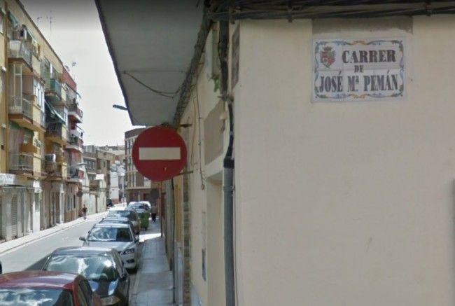 Silla calle José María Pemán