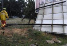 temporal cartel caído Paterna