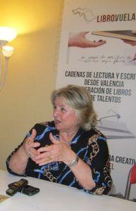 Ana Ruíz durante un momento de la entrevista.