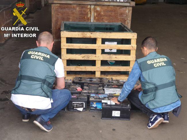 robo baterias Guardia Civil