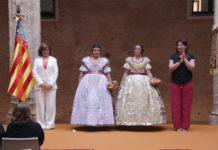 Sara Morcillo Torralba de la falla Avinguda 18 de Juliol i Judith Díaz Gomáriz