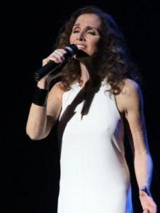 Ana Belén en unos de sus conciertos.