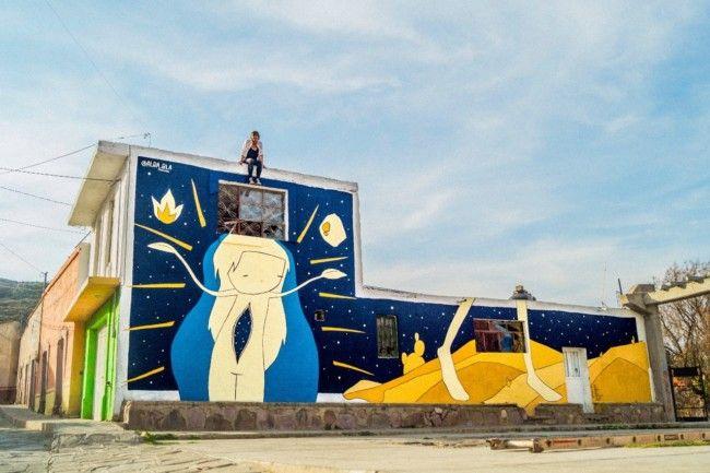 Mural de Alba Bla en México