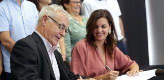 Joan Ribo y Sandra Gomez pacto Rialto
