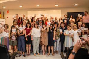 Autores de la antología 'Cada mirada es única'. Liberación de talentos 2019. (Foto-Vania Albertini).