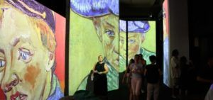 Una imagen de  la exposición sobre Van Gogh en el Ateneo.