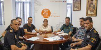 L'alcaldessa es reuneix amb les forces de seguretat per preparar les Festes Majors de Picassent