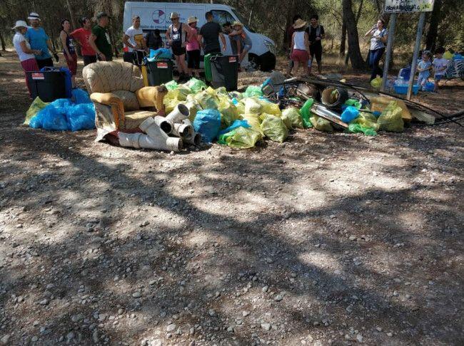 Limpieza Bosque de La Vallesa 18-8-2019