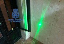Policia Nacional puntero laser