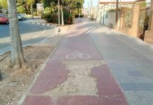 Torrent carril bici mal estado