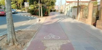 Torrent carril bici mal estado