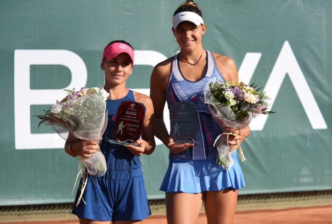 Bara y Masarova, campeonas en dobles.