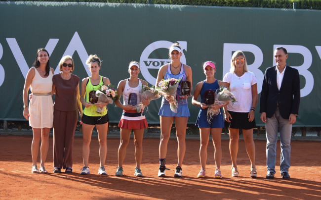 Foto de familia, cuadro de dobles del BBVA Open Ciudad de Valencia