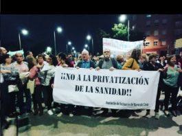 Barrio del Cristo manifestacion Sanidad