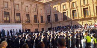 Acto Policia Local en el monasterio de El Puig