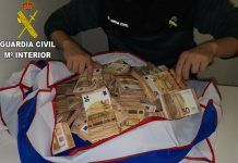 Guardia Civil dinero intervenido