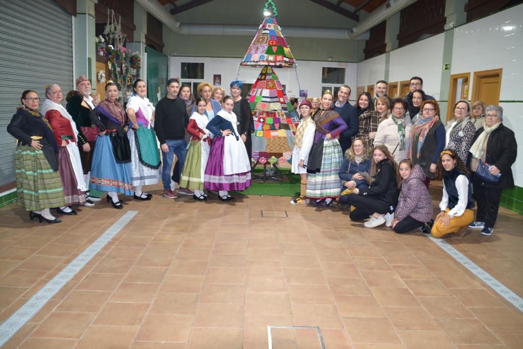 encesa arbre de nadal en Albal