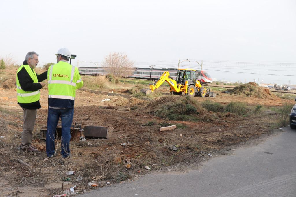 obras futura estacion tren Albal