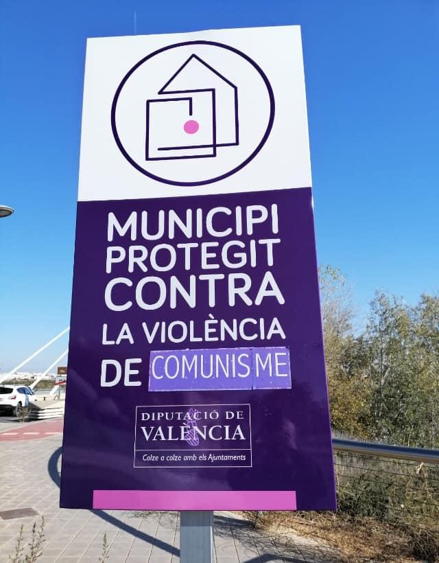 manises contra la violencia de genero cartel manipulado