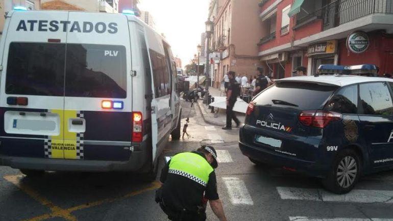 Policial Local Valencia furgoneta atestados