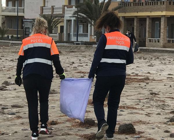 Puçol efectos temporal playa