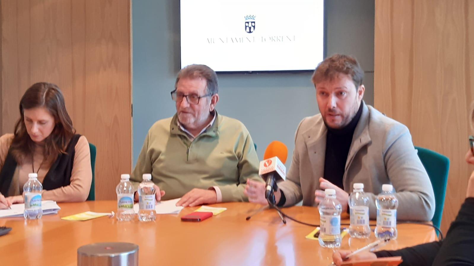 Torrent desayuno con los medios Ferrer, Ros y Campos
