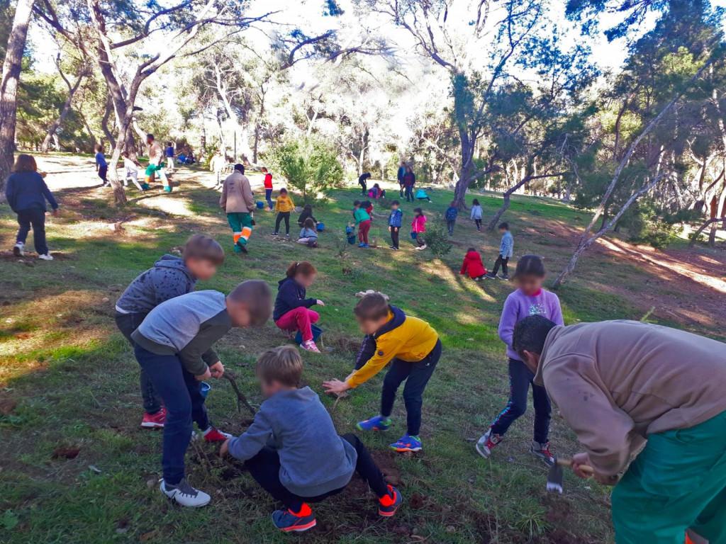 Escolares de Paterna plantando árboles