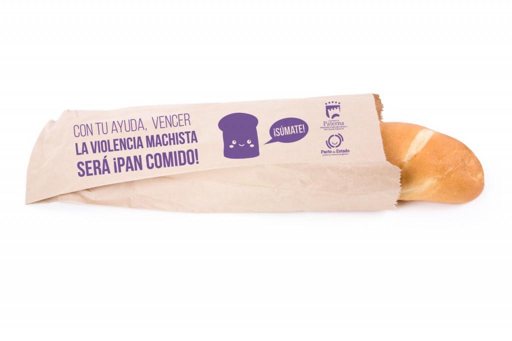 Paterna Campaña bolsas de pan contra la violencia de género