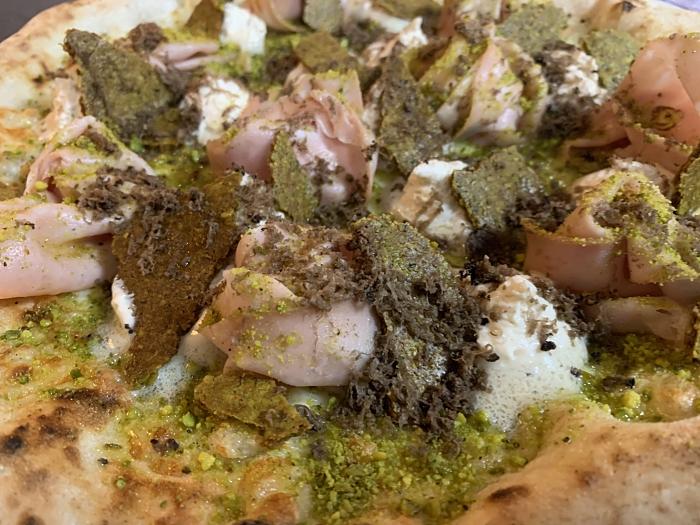 Pizza ganadora - Rosa de Pistacchio 1