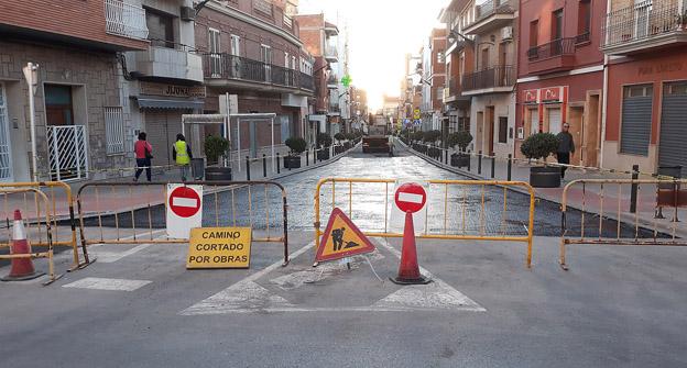 Puçol reasfaltado avenida valencia