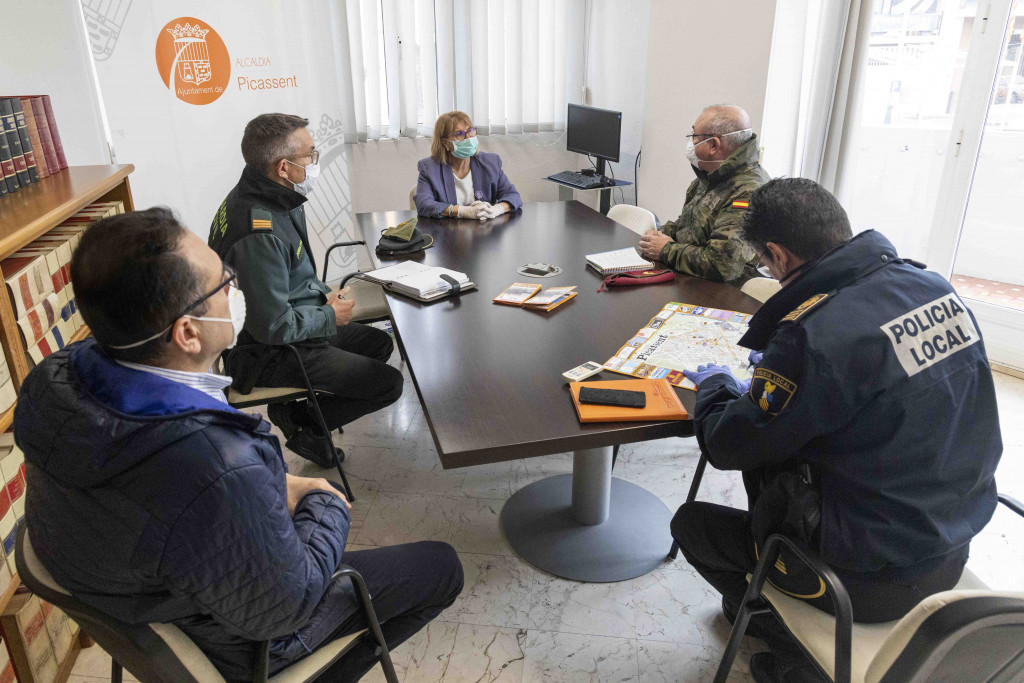 Reunión Ejercito de Tierra con ayuntamiento de Picassent