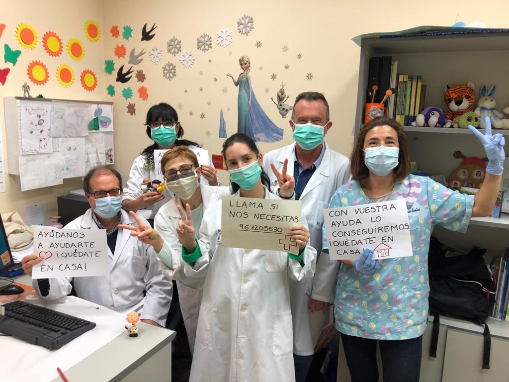 Médicos del centro de salud de Alboraya contra el coronavirus