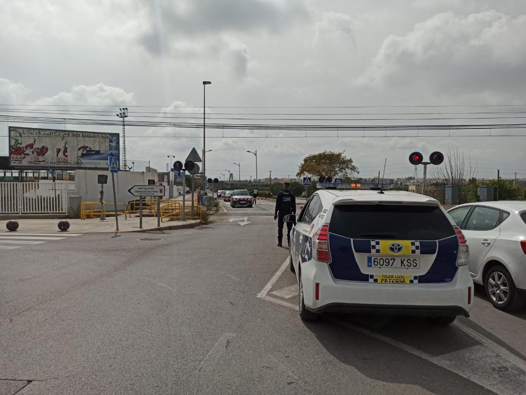 Controles policia accesos Paterna