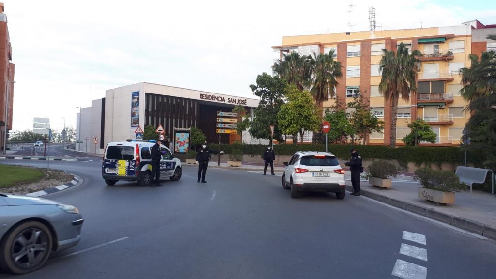 Policia Local Burjassot Controles por desplazamientos