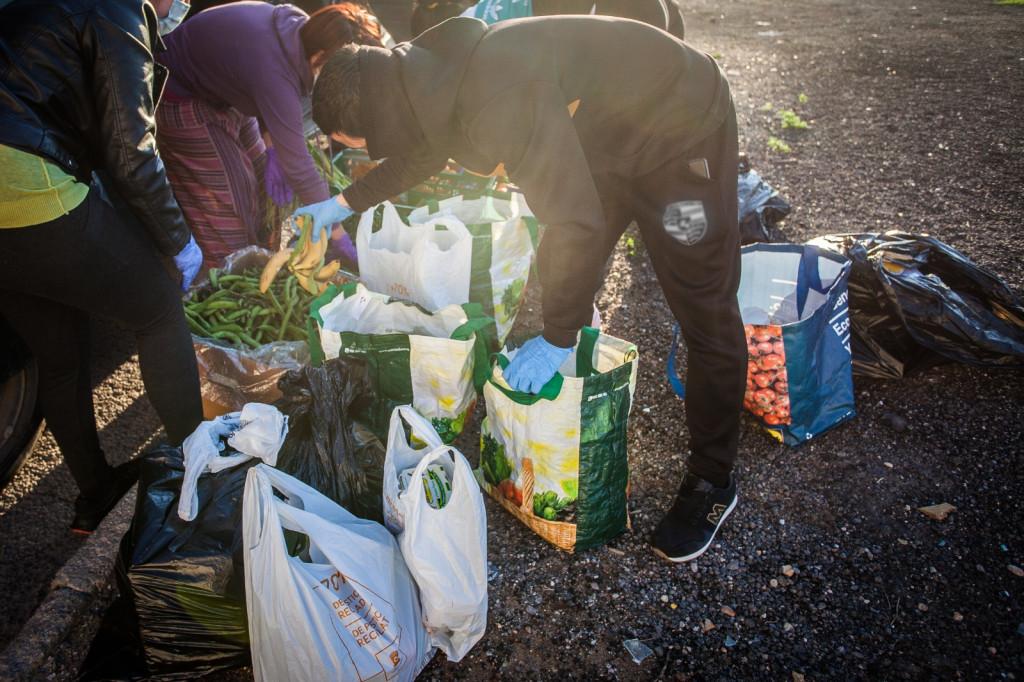 reparto alimentos Aldaia y Barrio del Crist